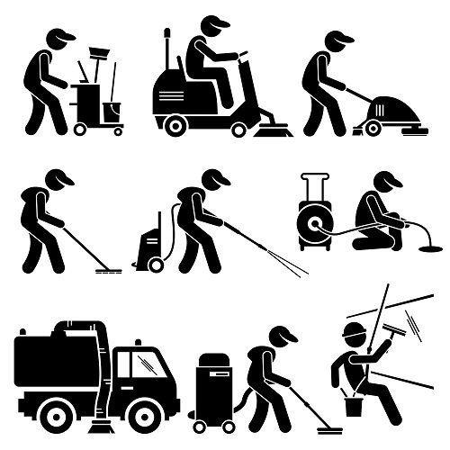 vari macchinari per le pulizie