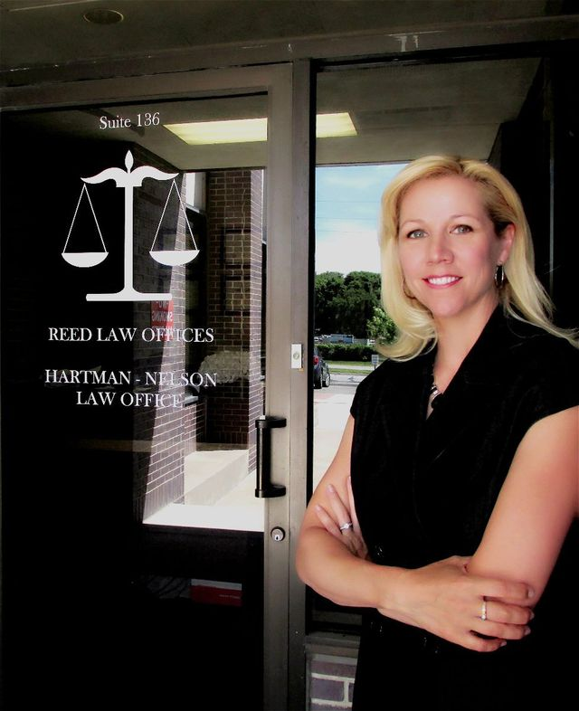 Attorney Shayla Reed in from of her law office