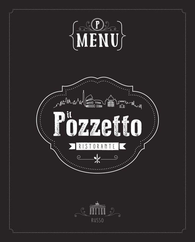 Copertina del menu  russo