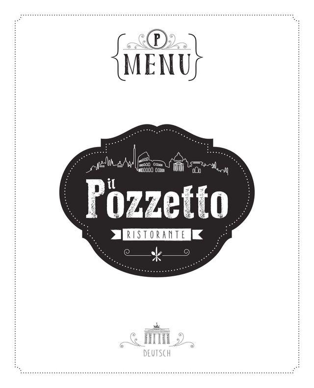 Copertina del menu  tedesco