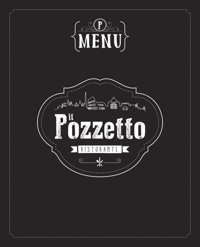 Copertina del menu italiano