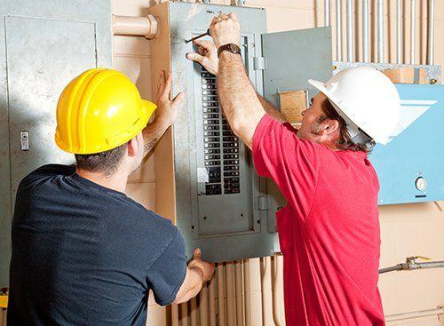 Electrical maintenance work in progress