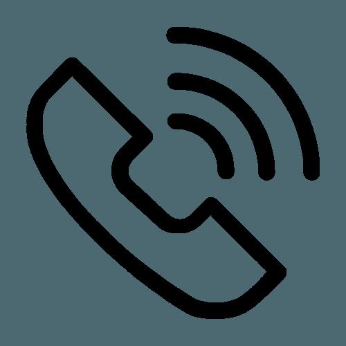 logo di una cornetta del telefono