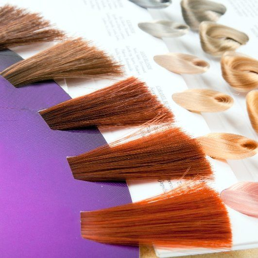 Hair color samples for long or short hair