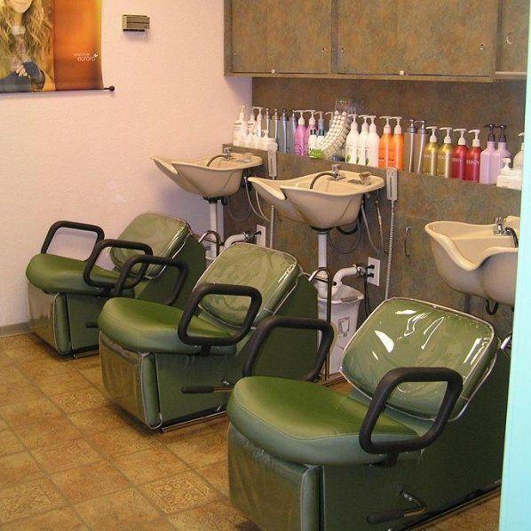 The washing station in our salon where we do a variety of different hair treatments.