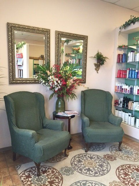 Our inviting waiting area in our salon, while you wait for nail and beauty appointments