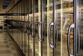 Supermarket upright chiller units