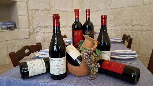 I vini pugliesi della Pizzeria Da Zi Ottavio in provincia di Bari