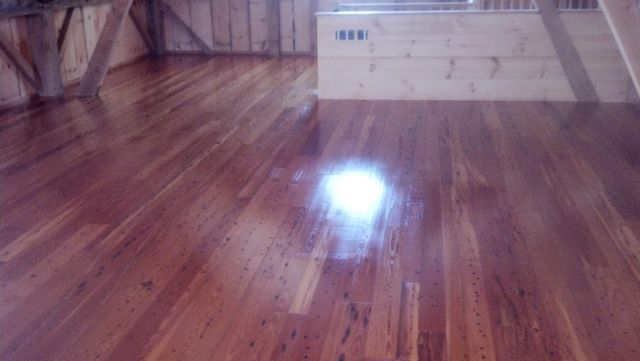 Beautiful floor staining in Springfield, MA