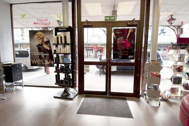 Inside of hair salon