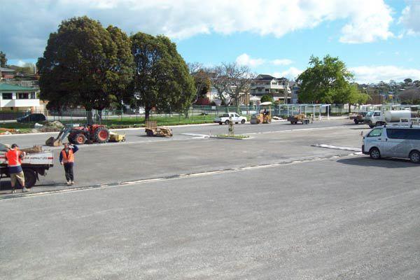 Before paved carpark