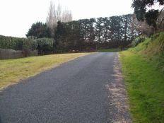 Rural chipseal driveway farm