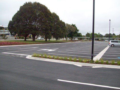 Paved carpark
