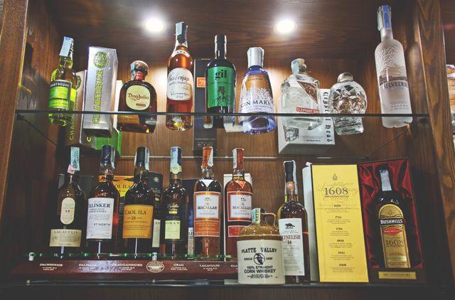 liquori in esposizione