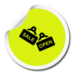 icon of SALE and OPEN