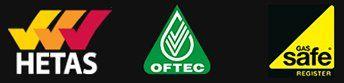 HETAS OFTEC GasSafe logos