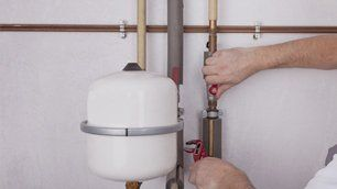 boiler being repaired