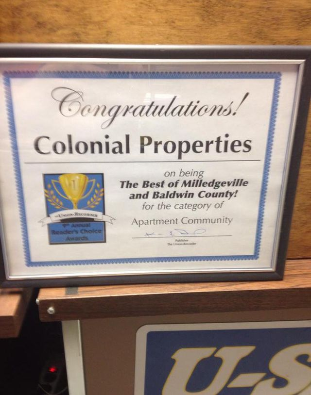 Congratulations Colonial Properties