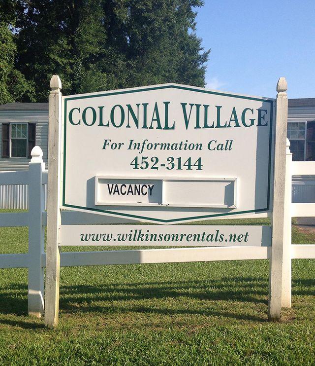 Collonial Village Wilkinson Rentals entrance