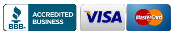Better Business Bureau, VISA and Mastercard