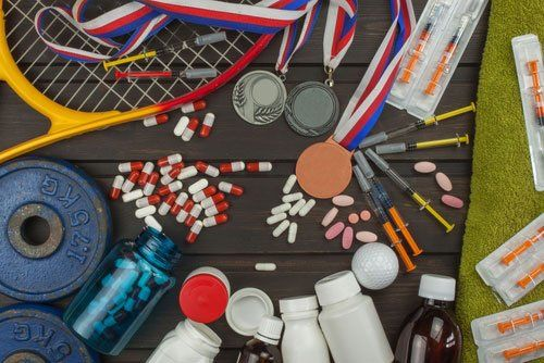 assortimento integratori per sportivi