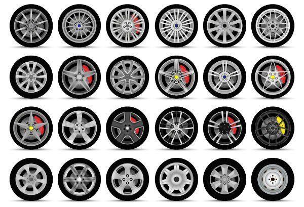 dei disegni di alcune ruote