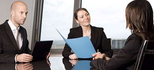 Interview for recruitments of candidates for customers