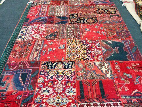 Elegant patchwork carpet