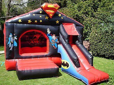 bouncy shed with slide