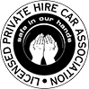 licensed private hire car association logo