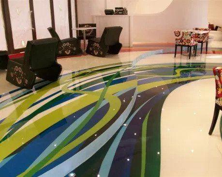 Decorative epoxies for concrete flooring