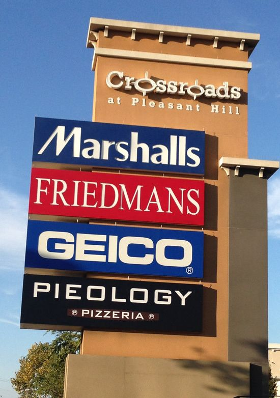Crossroads at Pleasant Hill's Commercial Sign Installation, Service & Repair, Kohl's, Wells Fargo, Rubio's, at&t