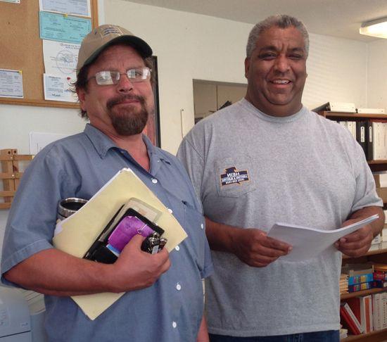Jim Hein, Master Electrician & Rick Mercado, Service Manager