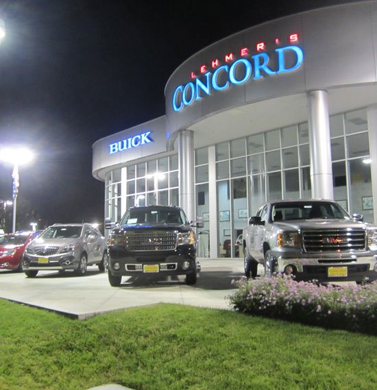 Car Lot & Security Lighting at Lehmer's Concord Buick - GMC