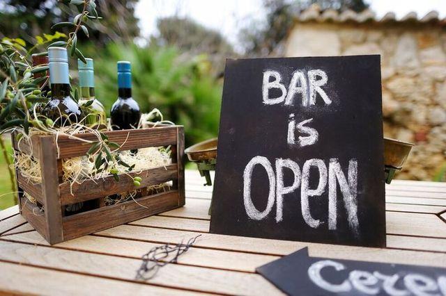 Bar is open board