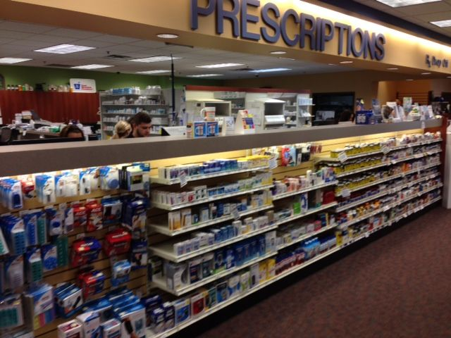 Pick up prescription area of Jeff's Prescription Shop