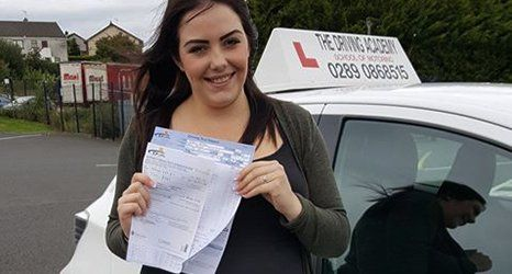 girl with a learners certificate
