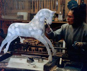 Rocking horses - Liverpool - Woodlove & Lovewood - Painting