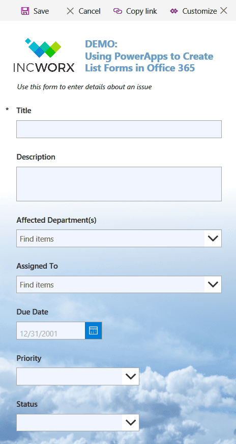 PowerApps Tutorial: How to Create Custom List Forms with