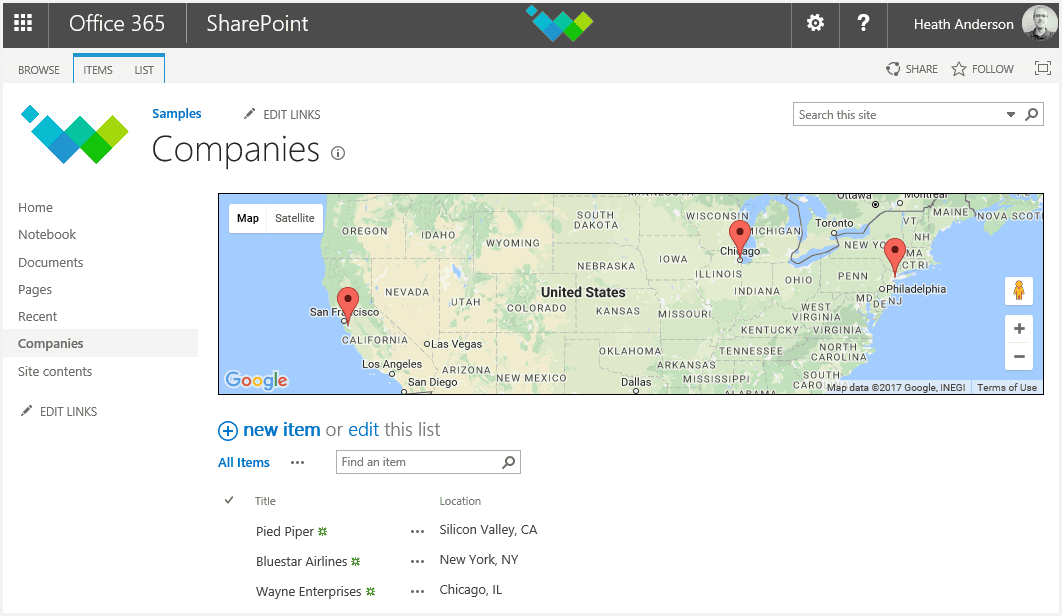 SharePoint Developer Tips: Show List Items on a Map on googie maps, gppgle maps, bing maps, goolge maps, iphone maps, stanford university maps, search maps, googlr maps, topographic maps, android maps, online maps, msn maps, waze maps, aerial maps, aeronautical maps, amazon fire phone maps, gogole maps, microsoft maps, road map usa states maps, ipad maps,