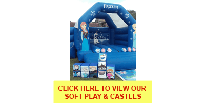 Frozen soft play mascots for hire