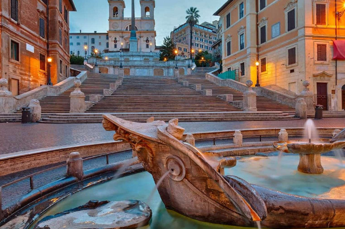 cena romantica roma
