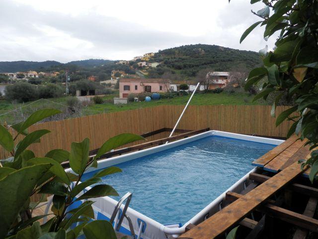 piscina autoportante blu