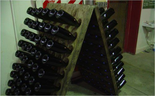 Interior view of a Wine rack