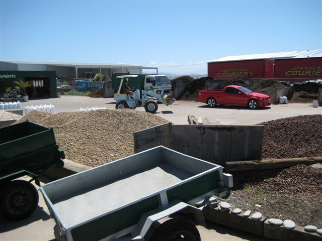 Landscaping materials like gravel and mulch in Hawkes Bay