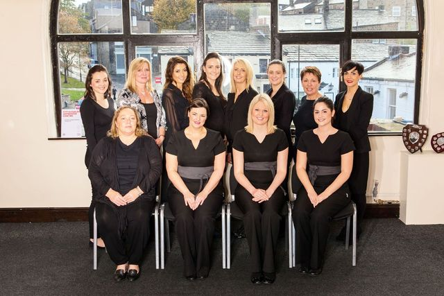 The staff of Yorkshire College of Beauty