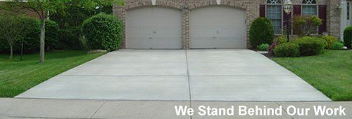 Concrete driveway constructed by expert in Cincinnati, OH