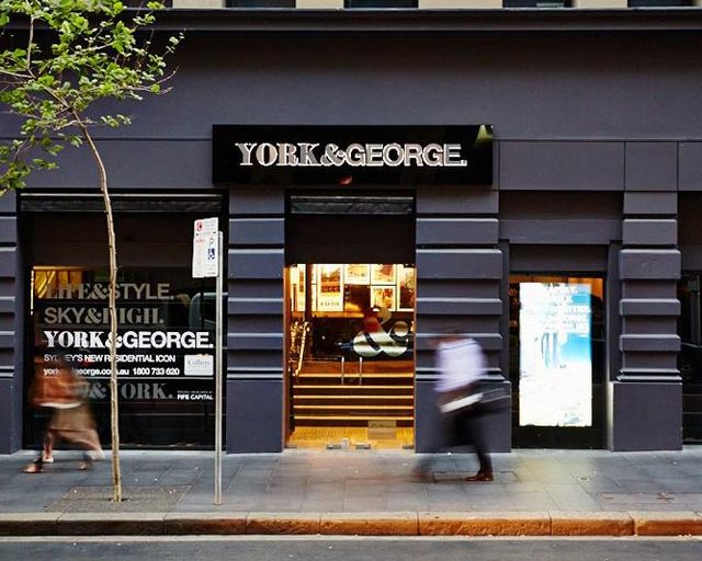 york & george building sign