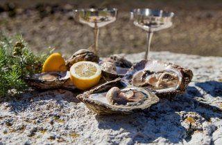 Ostriche e champagne, aperitivo ostriche e champagne, Viterbo, Lago di BOlsena, Viterbo