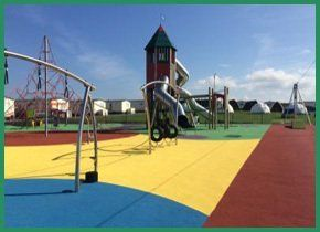 A bright colourful play area
